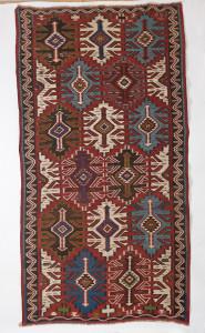 SENEH CARPETS, Kuba Kelim, East Caucasus, Late 19th century, 2.95m x 1.59m