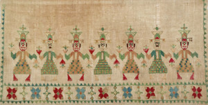 Andy Lloyd, Greek Island Embroidery, Early 19th century, 41cm x 22cm