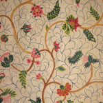 Peta Smyth, Crewelwork, 18th century, chain stitch embroidery (detail)