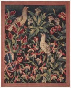 Peta Smyth, Millefleurs tapestry fragment, Southern Netherlands, circa 1500-1540
