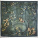Peta Smyth, leaf tapestry fragment, Southern Netherlands, circa 1520-1550