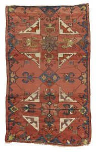 Central Anatolian fragmentary rug, possibly Konya, 192 by 116cm