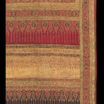 Pha Nung skirt cloth (detail), India for the Thai Court, 1775-1825, coton, resist dyed with gilded gold