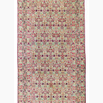 Lot 272, Kirman gallery carpet, commissioned by His Excellency Vakil Al-Mulk and woven by Master Mir 'Ali Kermani, son of Master Aqa'i Qali, southeast Persia, dated AH 1286/1869-70 AD.  Estimate: £30,000-£40,000