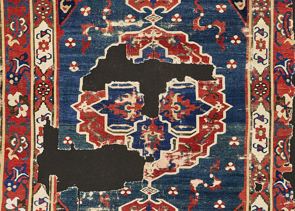 Lot 81, A Karipinar carpet fragment