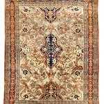 Silk Heriz carpet, Northwest Persia, late 19th century. Estimate: £10,000-£15,000