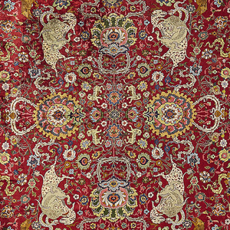 aLot 62, 'Emperor' silk carpet, Kum Kapi