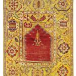 Lot 69, 'Transylvanian' carpet, West Anatolia, Turkey, mid-17th century. Estimate: EUR 22,000