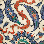 Saz leaf detail from an Iznik tile, Turkey, 16th century