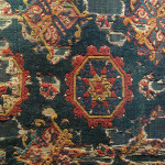 Fragment of small pattern Holbein with variant motif, Western Anatolia, second half of the 15th century