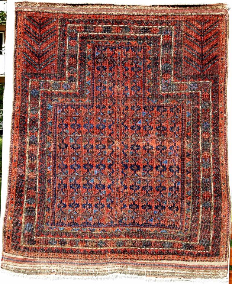 Blue Ground Timuri Prayer Rug Claes Göran Swahn Collection Sweden