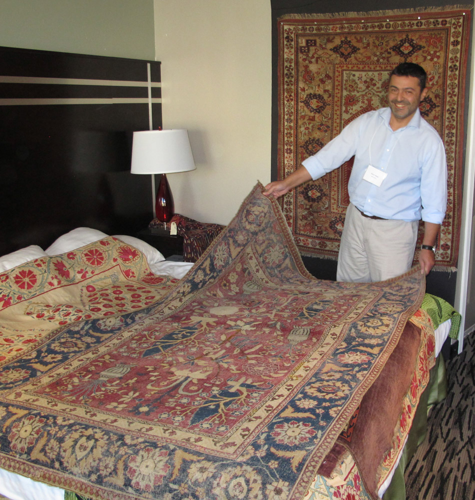 London Dealer Aaron Nejad With His Mughal Period Rug