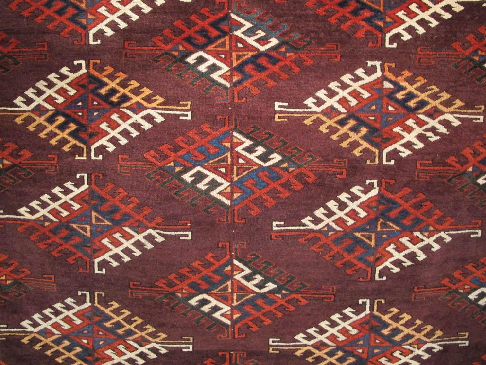 Yomut Turkmen Main Carpet Detail Legge Hali