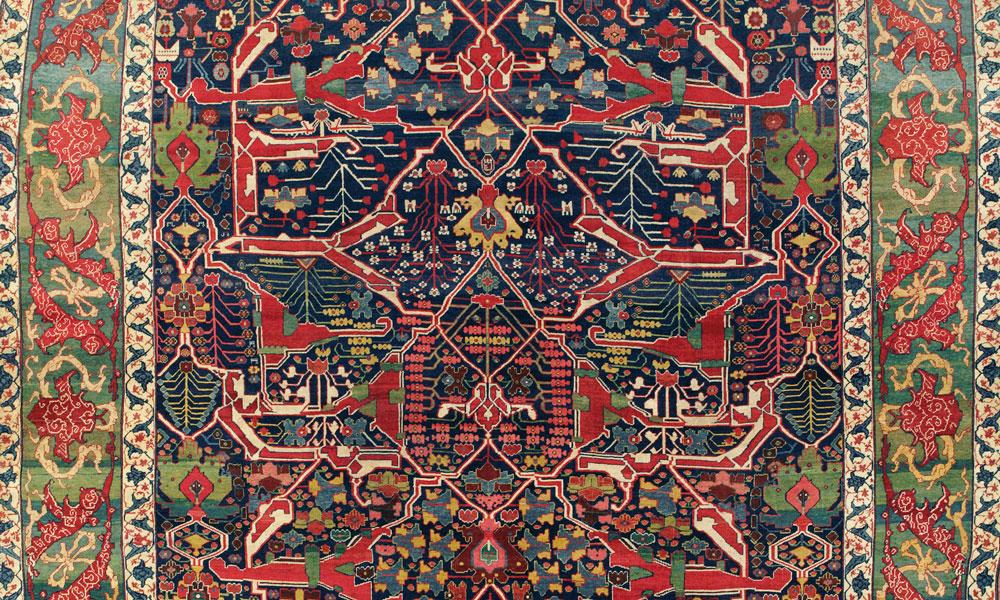 Lot 301, A Bijar carpet, west Persia, circa 1880