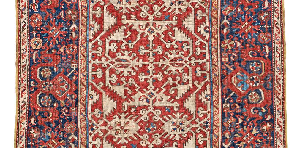 Lot 40, Lotto arabesque rug, 17th century, Turkey, Theo Haeberli private collection, €27,000