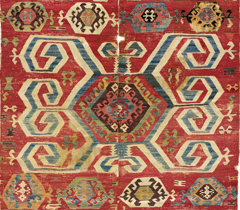 Central Anatolian kilim (detail), 18th century, The Megalli Collection.