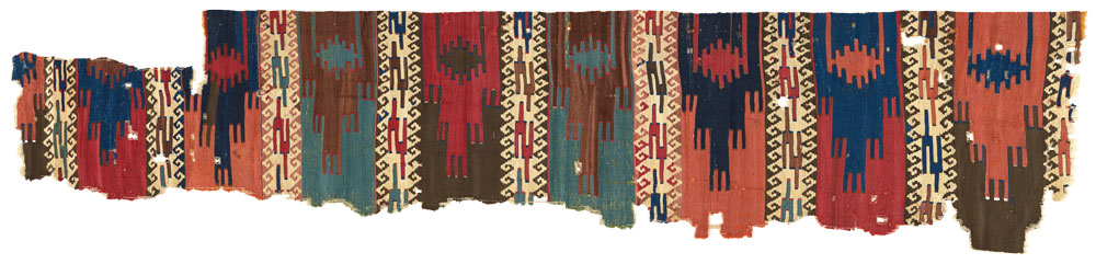 Central Anatolian kilim, 18th century, The Megalli Collection.