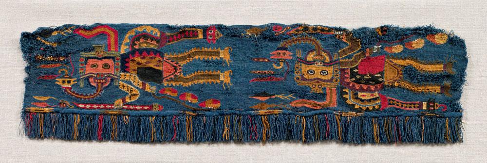 Textile fragment, Paracas culture, Peru, ca. 200 BCE-100 CE, Saint Louis Art Museum.