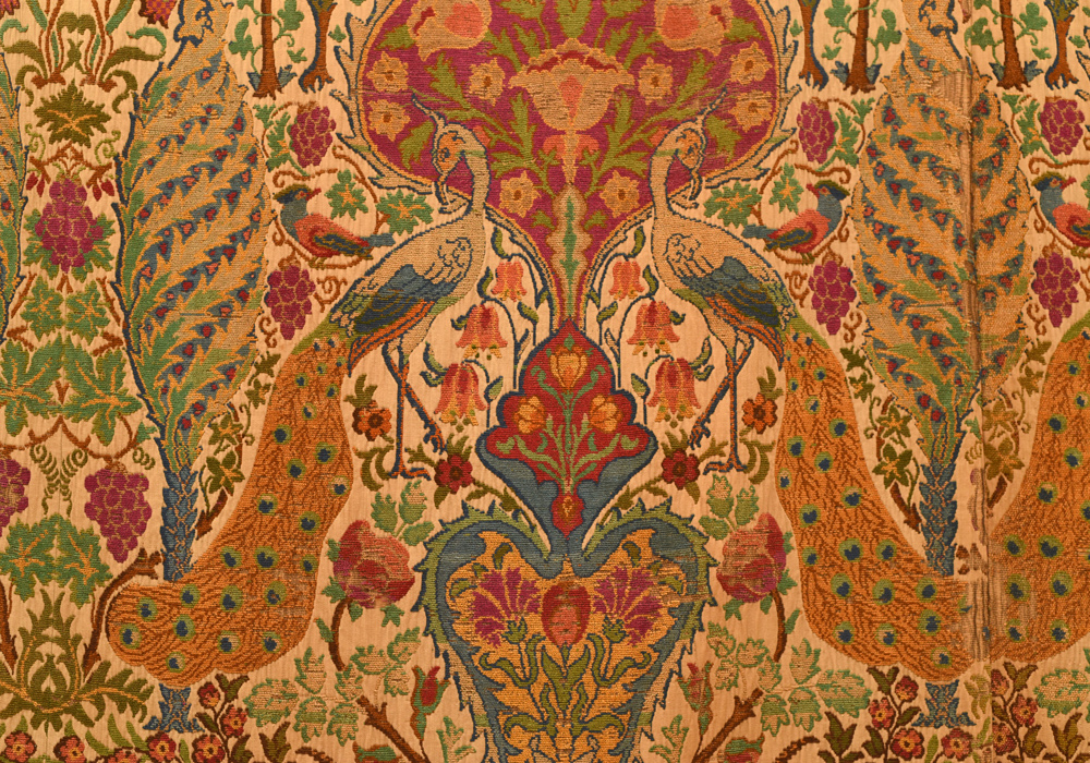Arts & Crafts chenille & linen curtains (detail), circa 1910, Anthony Hazledine Rare Carpets and Textiles