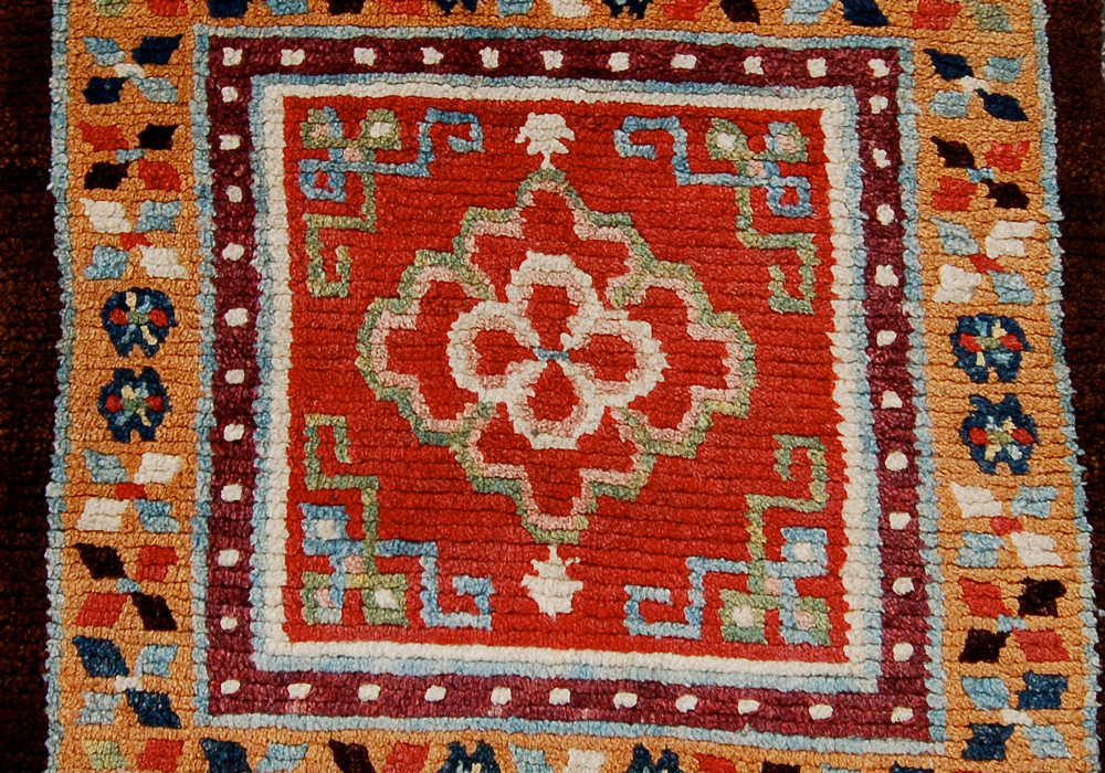 Tibetan seating square (detail), 19th century, Owen Parry