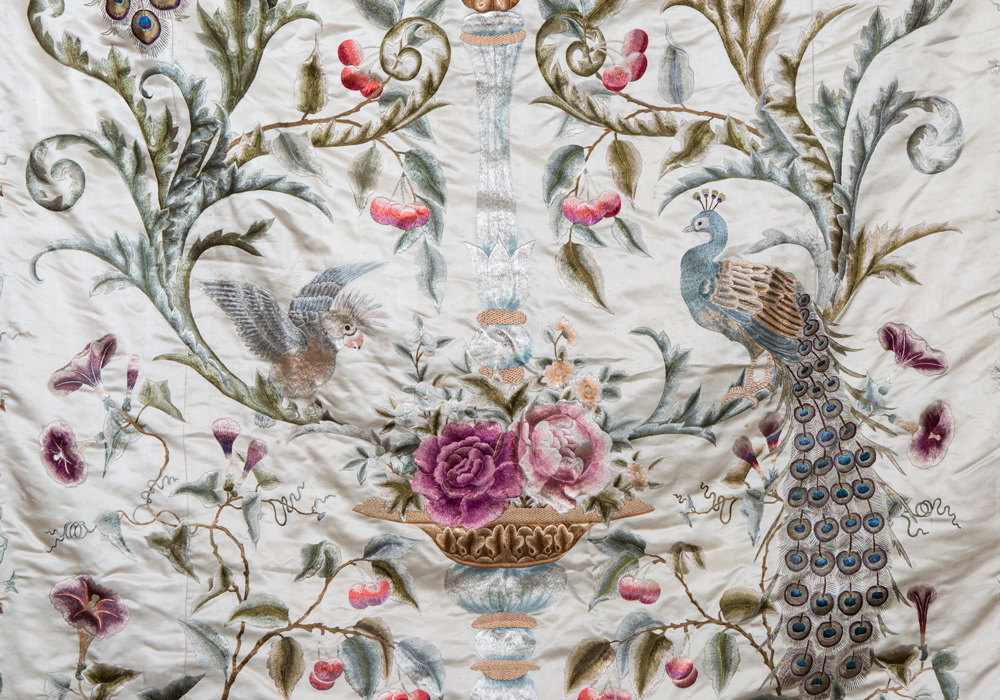 Walter Crane silk embroidered wall hanging 1 (detail), Europe, 1890s, Meg Andrews