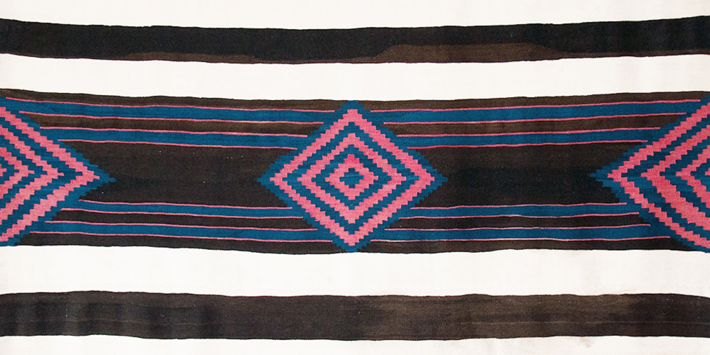 A Classic Third Phase Chief's Blanket, Navajo, circa 1850. 1.524 x 1.753 m. Photograph by Joshua Baer
