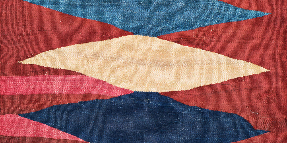Lot 31, Karadag Kilim (detail), Persia, early 20th century. Theo Häberli private collection. Estimate: €1,000 - 1,400.