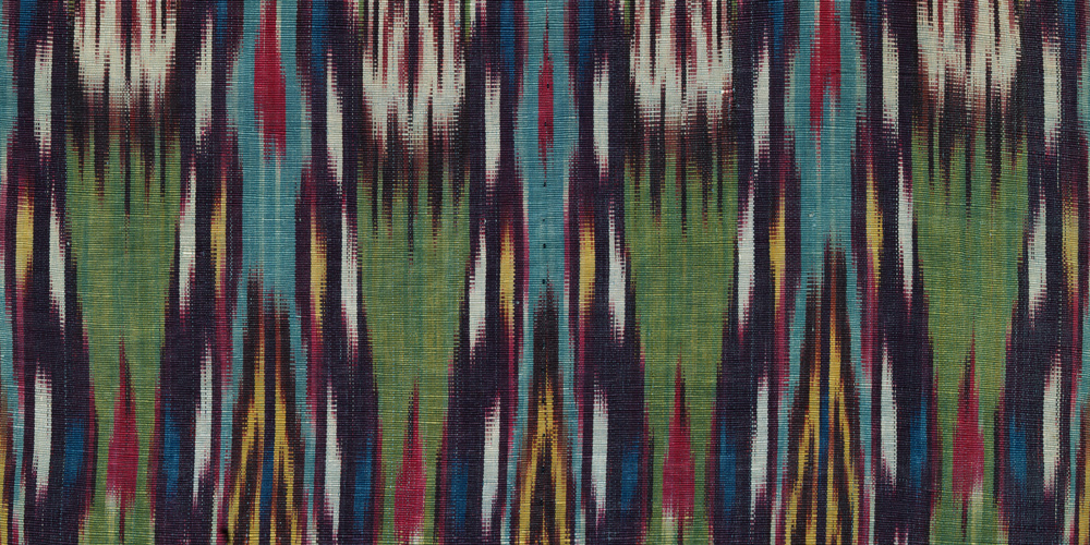 Ikat (detail 1), Central Asia, late 19th–early 20th century, Los Angeles County Museum of Art, gift of David and Elizabeth Reisbord, photo © Museum Associates/LACMA