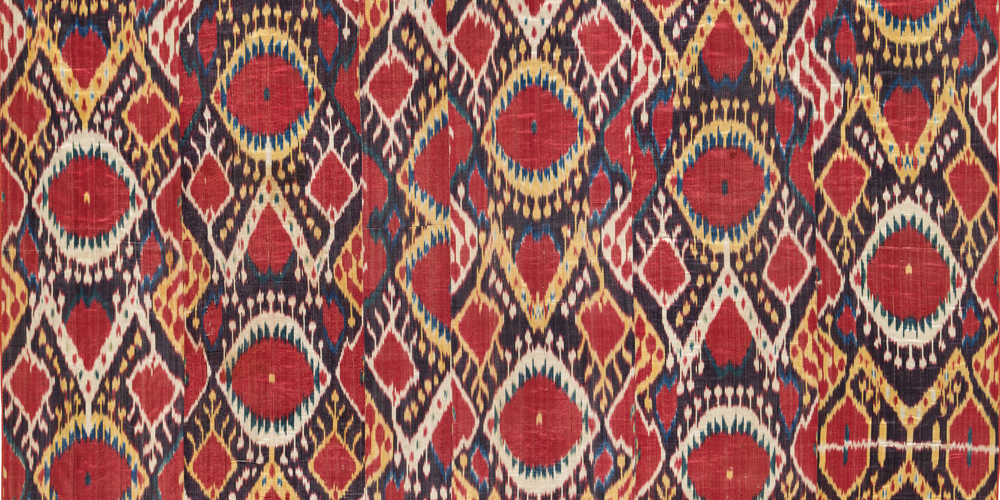 Ikat (detail 3), Central Asia, late 19th–early 20th century, Los Angeles County Museum of Art, gift of David and Elizabeth Reisbord, photo © Museum Associates/LACMA