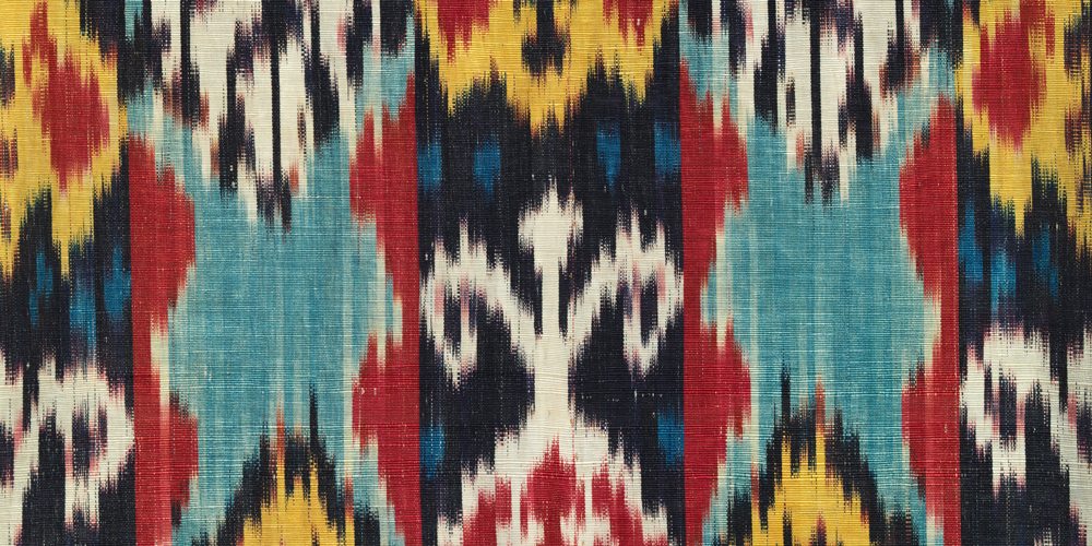 Ikat (detail 2), Central Asia, late 19th–early 20th century, Los Angeles County Museum of Art, gift of David and Elizabeth Reisbord, photo © Museum Associates/LACMA