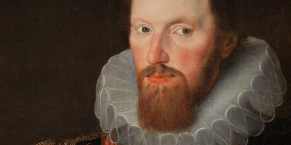 Detail of portrait of Edward Lord Montagu, 1st Lord Montagu of Boughton, 1601, attributed to Robert Peake, (English, circa 1551-1626). The Johnston Collection (A0951-1989, Foundation Collection) image © The Johnston Collection, Australia
