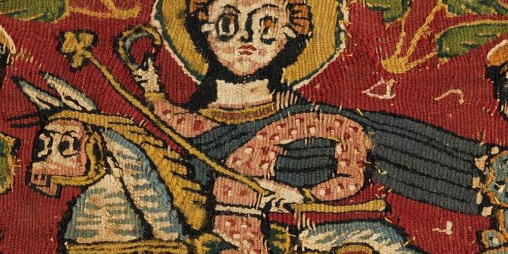 Detail of a Coptic Textile , 6th century AD, Egypt, Google Art Project, Wikimedia Common.