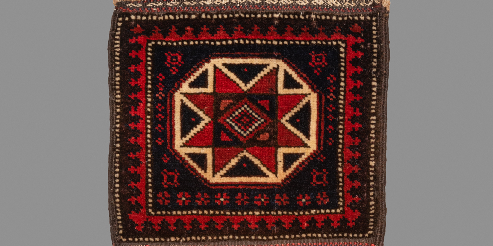 "Baluch double-sided chanteh (detail), Khorasan province, northeast Persia, late 19th century. 0.25 x 0.48 m (10"" x 1' 5"")"