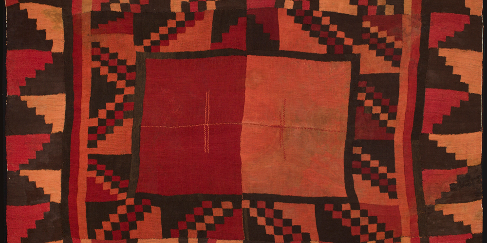 Tunic (Cushma) (detail), Wari culture, Southern Andes, alpaca wool, c800 AD, 2.20 x 1.45 m. Paul Hughes Collection
