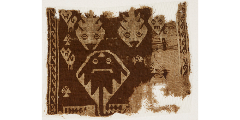 Fragment (detail), Chimú culture, Andes, double-cloth woven cotton, c1000-1476, 0.15 x 0.20 m. The Whitworth, The University of Manchester